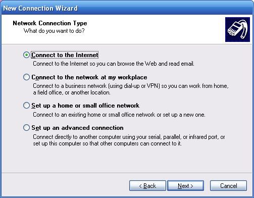 How to connect to the internet from a XP laptop or computer
