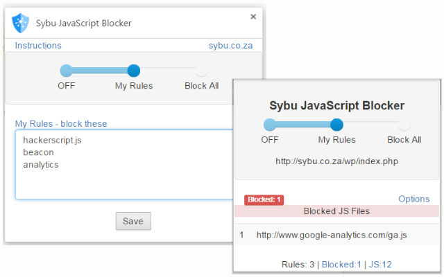 Sybu JavaScript Blocker – Google Chrome Extension – SYBU DATA