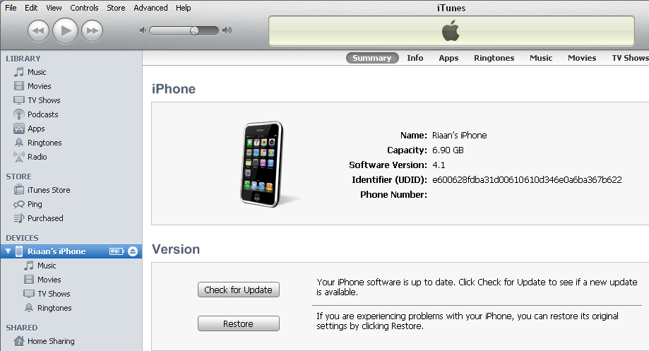 iPhone UDID step2